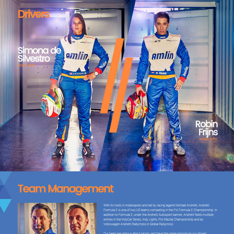 Amlin Andretti Website